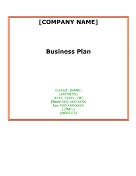 Business Plan: Create & Download for Free FormSwift